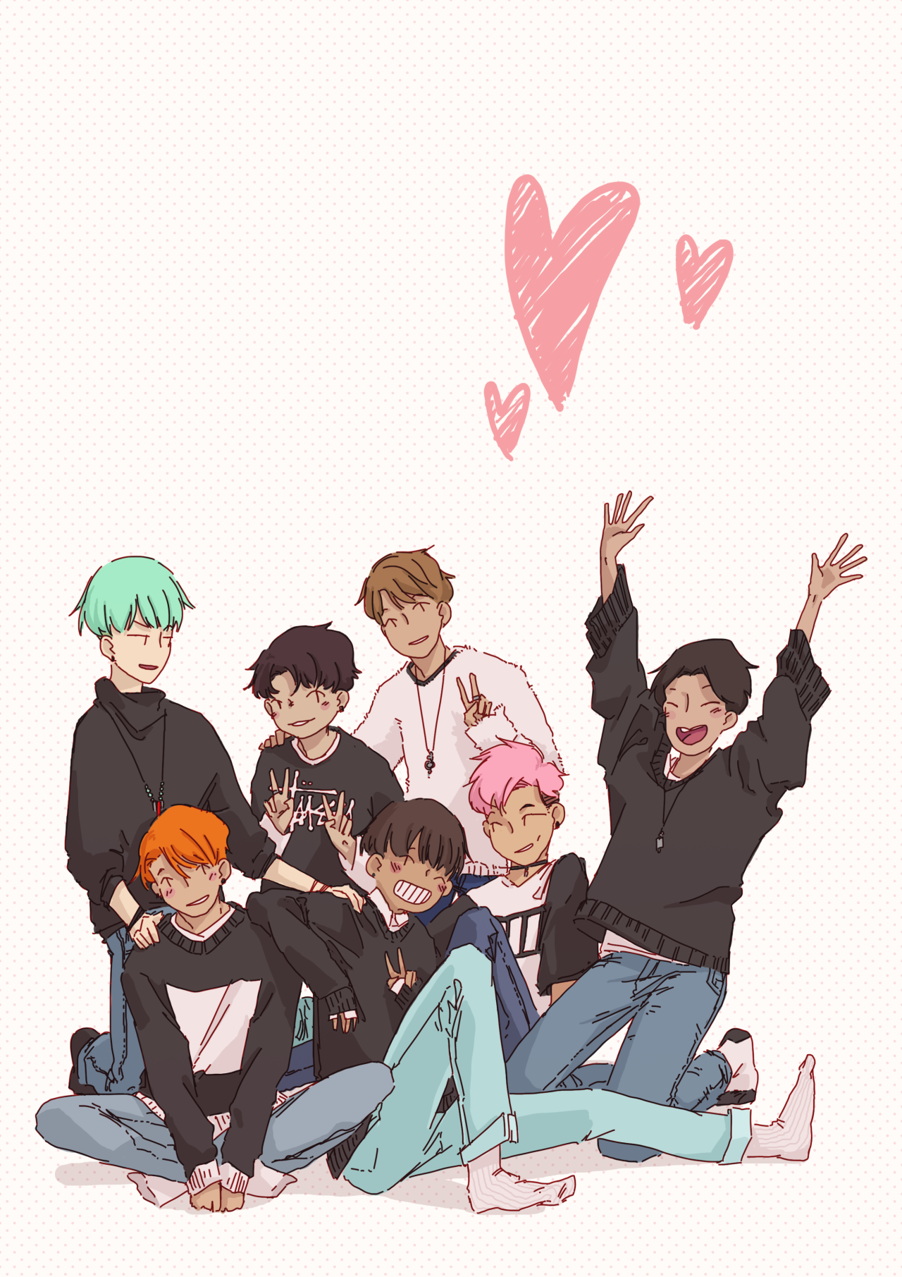 XD Theyre So Cute BTS Pinterest BTS Fanart And Kpop