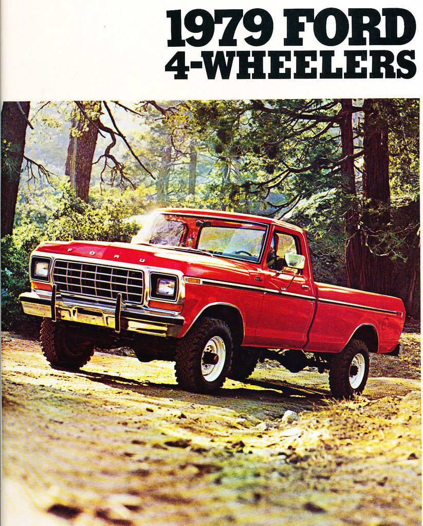 1979 ford 4wd trucks 8 page original car sales brochure catalog f 150 bronco ebay