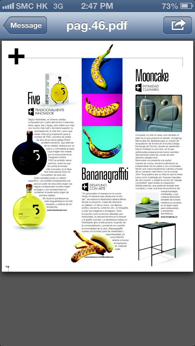 A couple of months ago I could never have imagined that with a project based on a simple fruit, like a banana, I will be able to travel the world, being in the same place.  Like Chile, for example.  Muchas gracias para todo Ambientes Magazine http://ambientesdigital.com/ for your article about me and @bananagraffiti  And here again, the power or art and communication to take me over time and space, limitless.  #magazine #space #time #food #foodporn #thankyou #potassium ❤