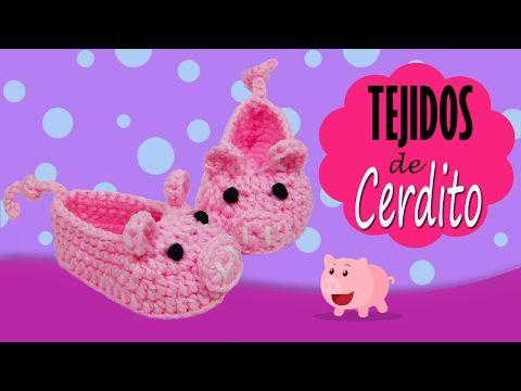 Zapatos de conejo tejidos a crochet   PASO A PASO - YouTube   Melani ...
