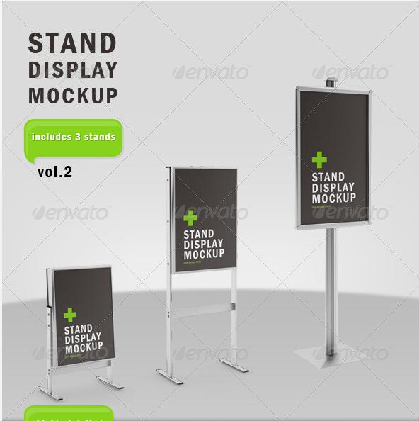 Stand Display Mockup Vol 2 Display Mockup Display Stand Display
