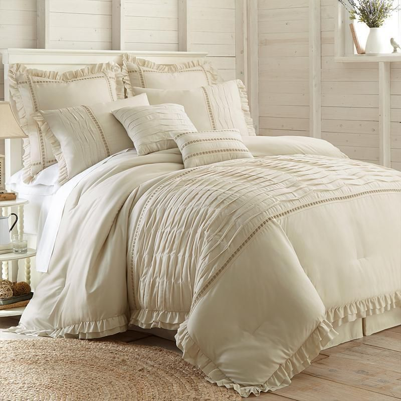 Antonella Beige 8 Piece Comforter Set Comforter Sets Luxury Bedding Bedding Sets