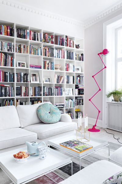 10 inspirations pour se crer un coin lecture dans son salon  Bibliotheque bookshelves  Coin