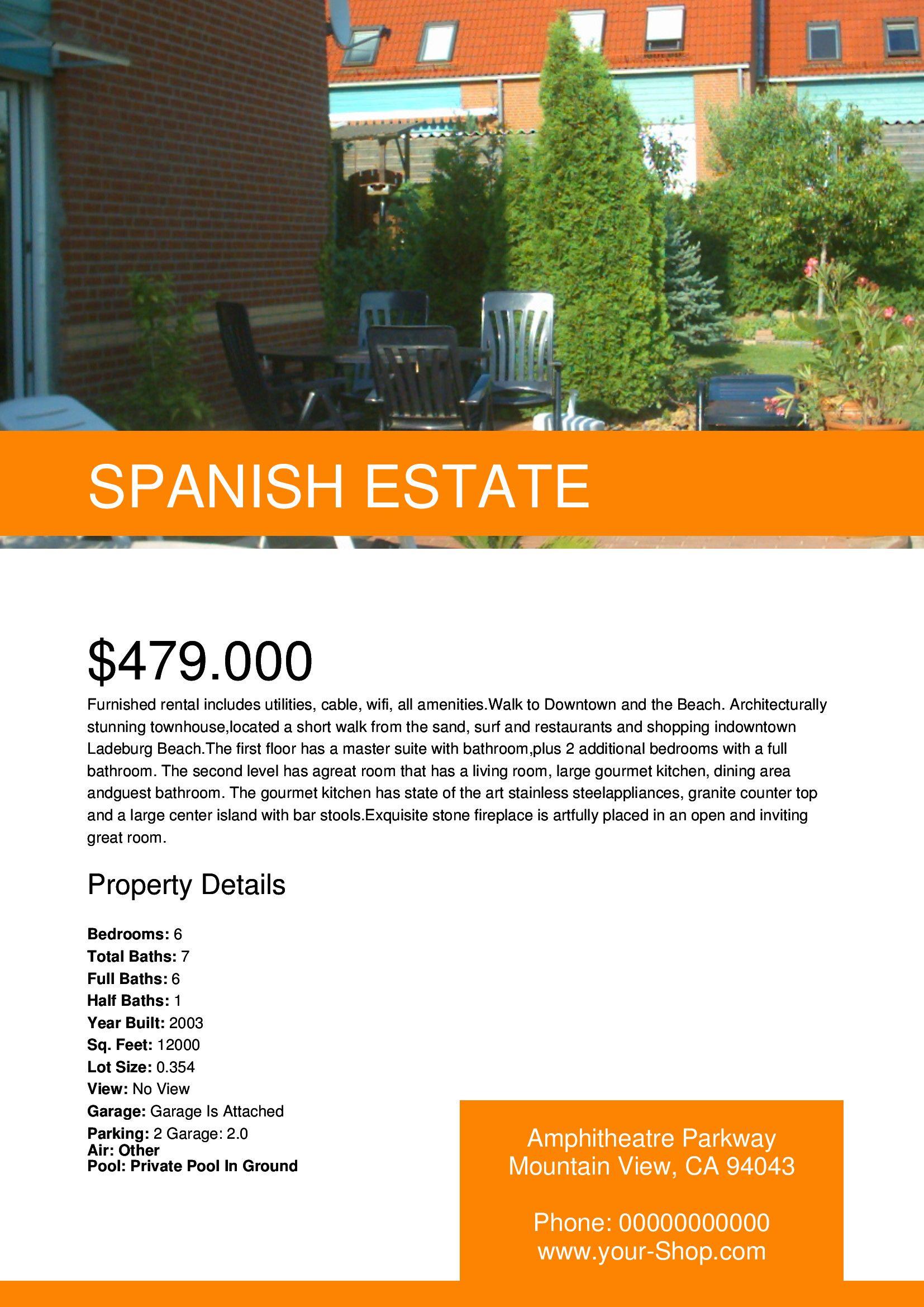 spanish flyer template