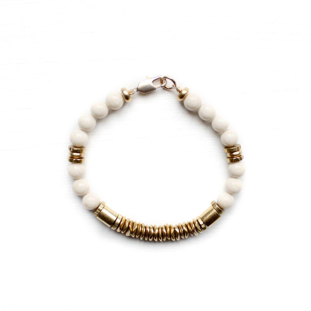 Riverstone Brass Bracelet by Kathryn Blackmore