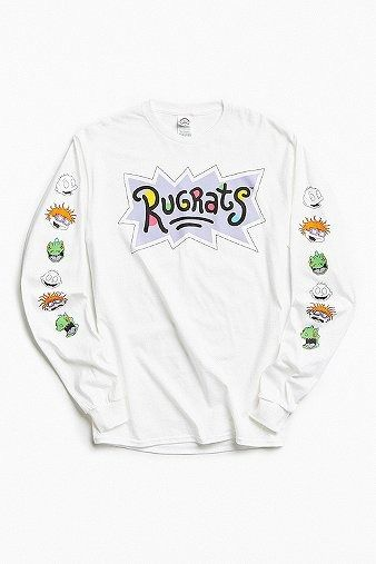 ae879198d Rugrats Faces Long Sleeve T-shirt | Men | New In | T-Shirts | Graphic Tees  | Urban Outfitters