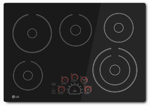 Lg 30 Black Radiant Electric Smoothtop Cooktop With Smoothtouch Controls Lce3010sb Electric Cooktop Stainless Steel Cooktop Cool Things To Buy