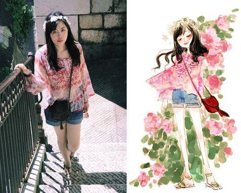 Nancy Zhang - Zara Bag, H&M Shorts - 生如夏花。Let life be beautiful like summer flowers.