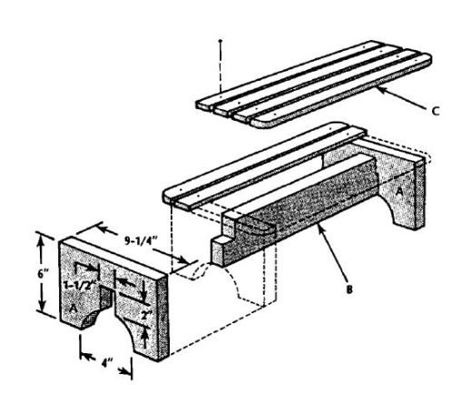 Free Wood Bench Plans