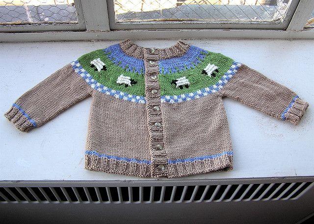 Sheep Yoke Baby Cardigan. Free pattern. I've always loved this ...