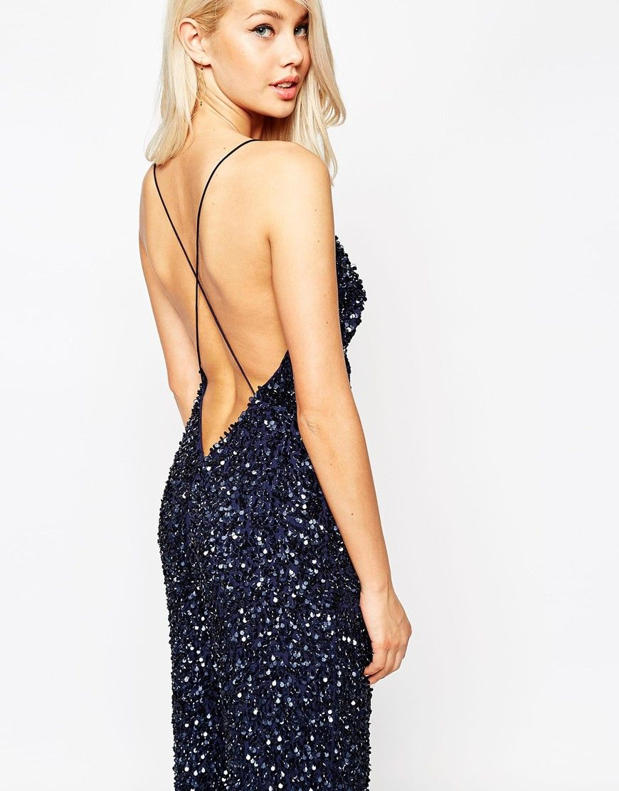 4d838f414fec Image 3 of ASOS Backless Jumpsuit with All Over Sequins