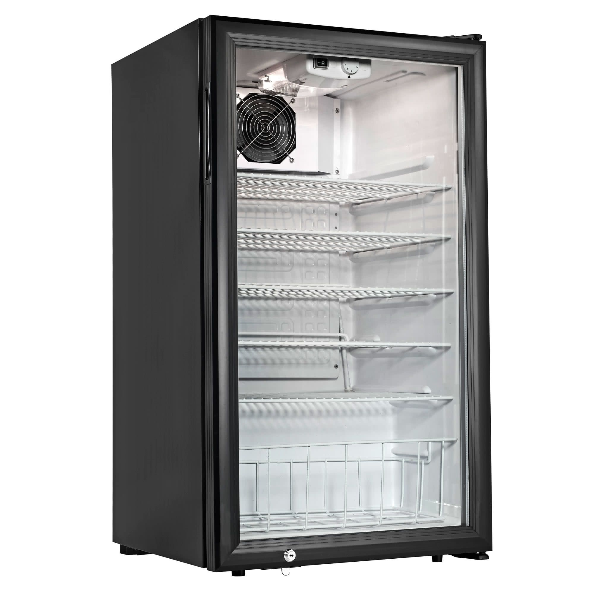 Cecilware Ctr3 75 Black Countertop Display Refrigerator With Swing