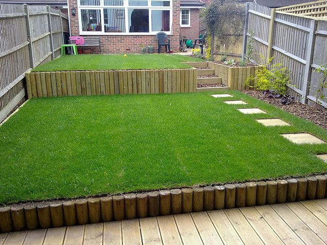 Terracing a sloping garden sloping garden gardens and for Design your own small garden
