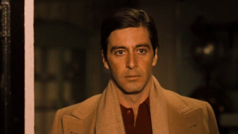 Michael Corleone Slamming The Door In Kay S Face In This Great Scene From The Godfather 2 Young Al Pacino The Godfather Part Ii Al Pacino