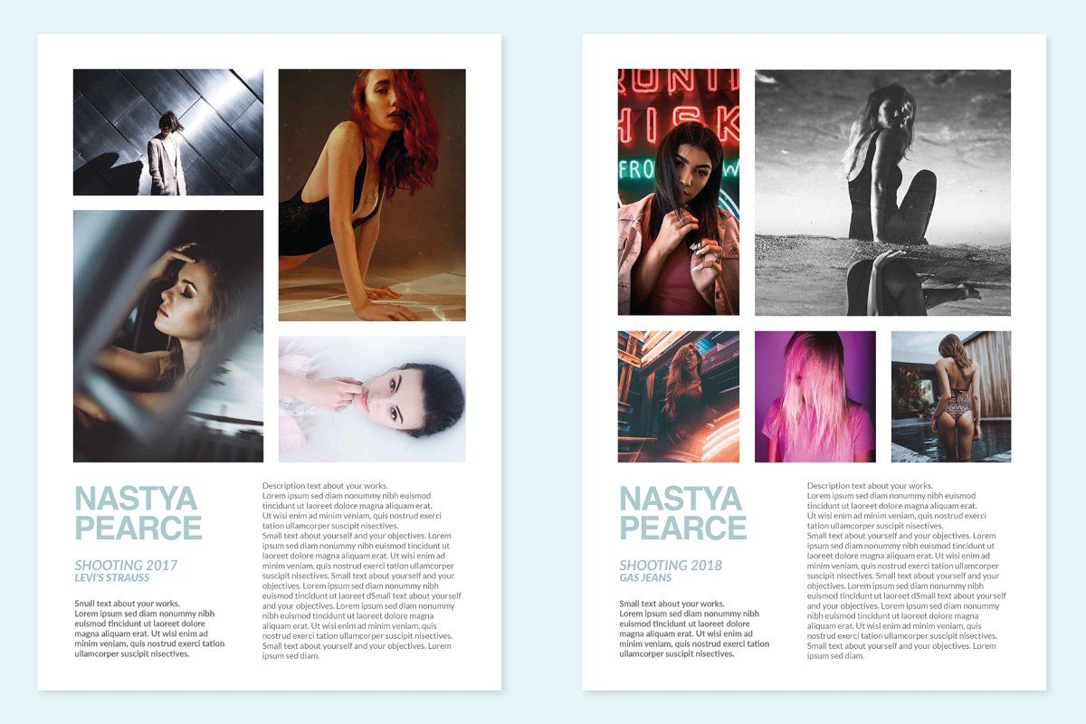 Modeling Comp Card Model Comp Card Modern Resume Template Resume Template Word