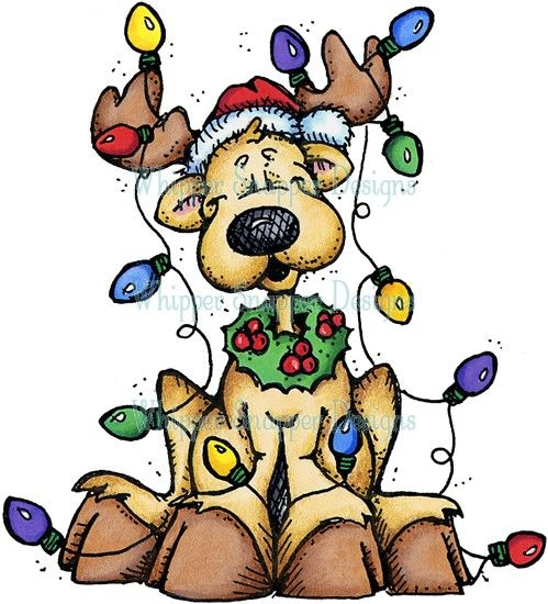 Christmas lights tangled. All up reindeer clipart