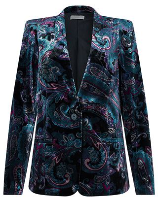 Cheap Monsoon Cosmic Paisley Velvet Jacket on sale