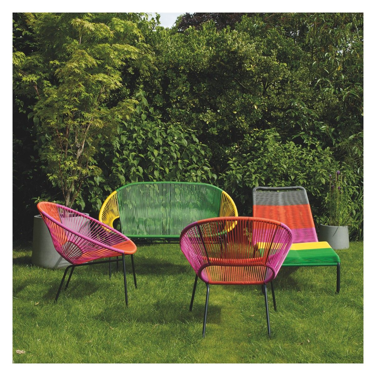 Darwin 4 seat black metal garden set garden furniture for Outdoor furniture darwin