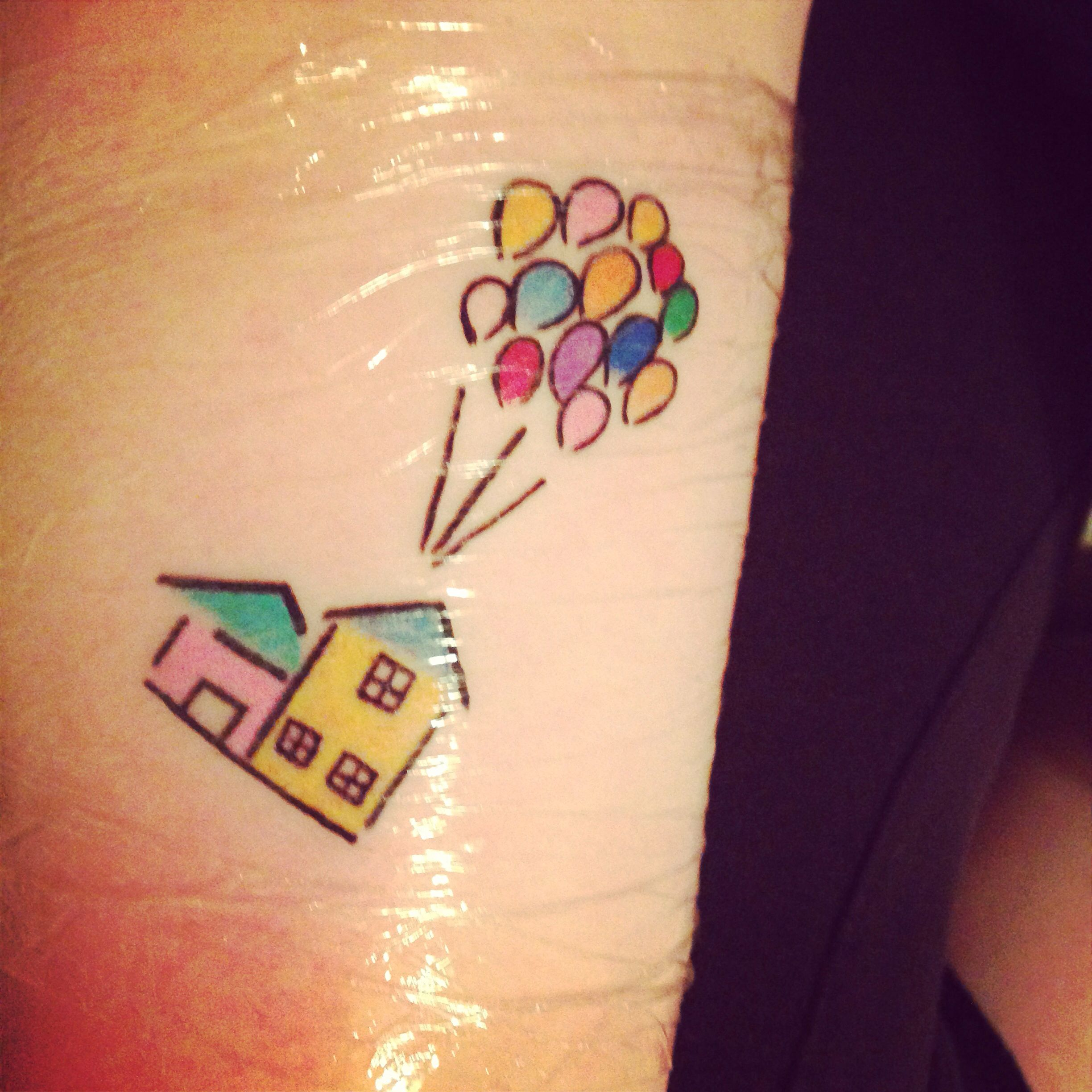 Up House Balloons Newest Tattoo The House And Balloons From Up Done By Anthony At