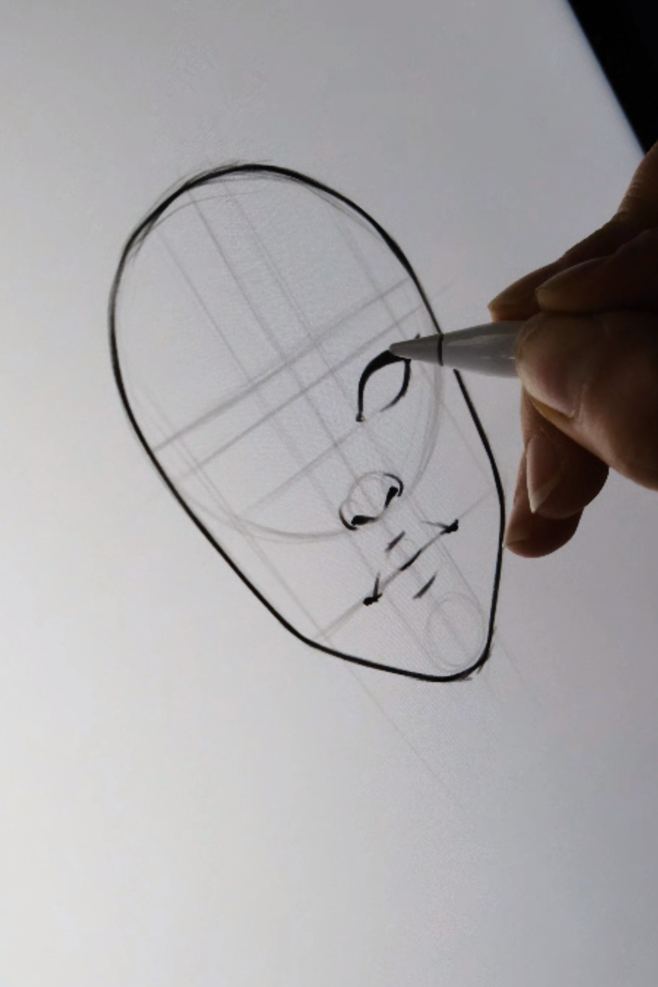 Photo of Easy face drawing tutorial with construction lines by AlicjaNai