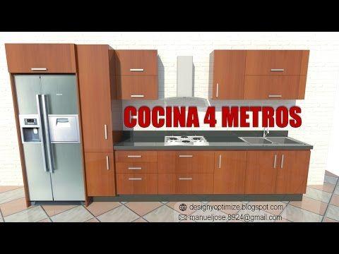 Construyendo Cocina De 4 Metros Youtube Medidas De Cocina Planos De Cocinas Cocina Pvc