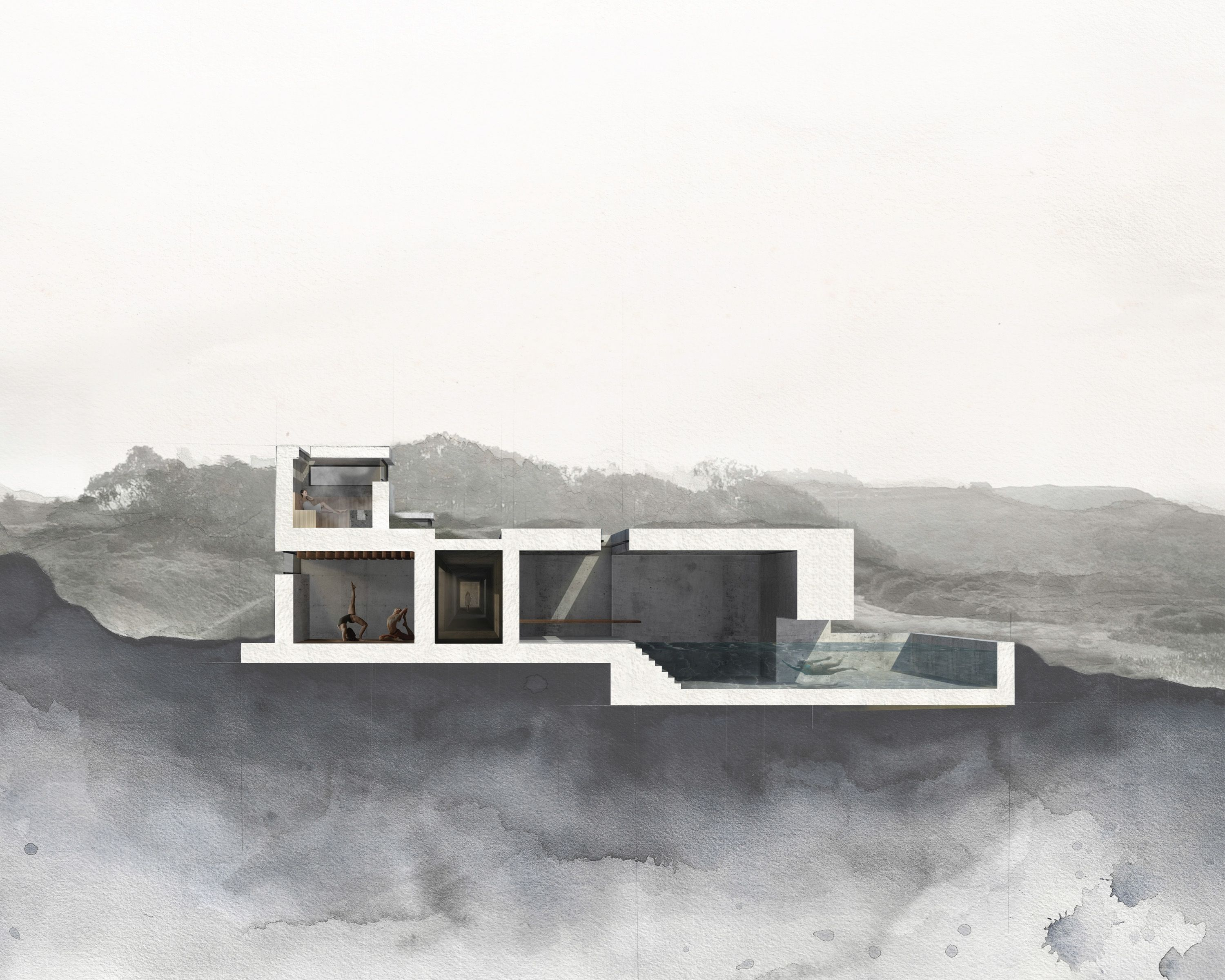 occupied artifact cal poly architecture thesis 2014 section perspective architecture. Black Bedroom Furniture Sets. Home Design Ideas