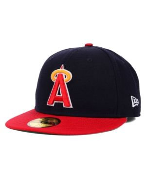 free shipping ceef3 32c73 New Era Los Angeles Angels of Anaheim Mlb Cooperstown 59FIFTY Cap - Blue 7  3 8