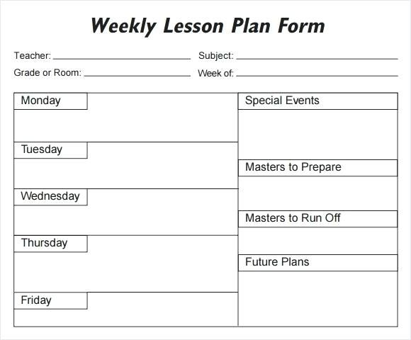 weekly plans template blank preschool weekly lesson plan News to