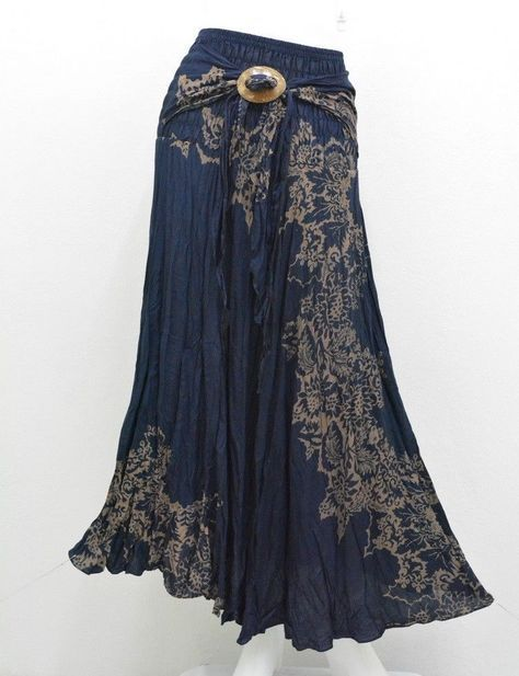 55f5168a8a Skirt ab11 hippy boho maxi gypsy casual coco buckle cotton woman | A ...