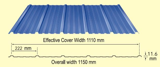 Durashine Wall Corrugated Roofing Steel Roofing Sheets Industrial Roofing