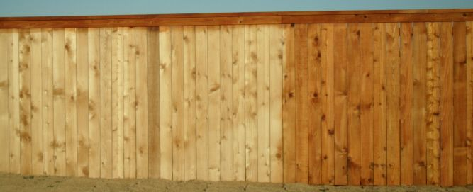 Olympic Maximum Cedar Naturaltone Stain Color On Wood From Country Fencing Company Fence Staining Showcase Abilene Texas Tx