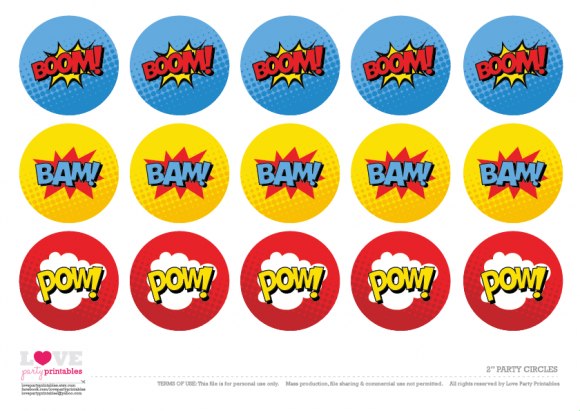 photograph about Free Superhero Party Printable called Cost-free Superhero Social gathering Printables Cupcake Toppers