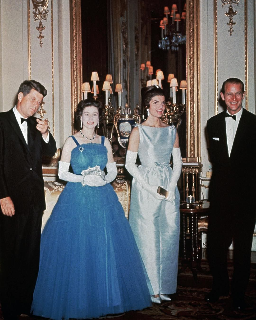 Queen Elizabeth and Price Philip meeting President Kennedy and ...