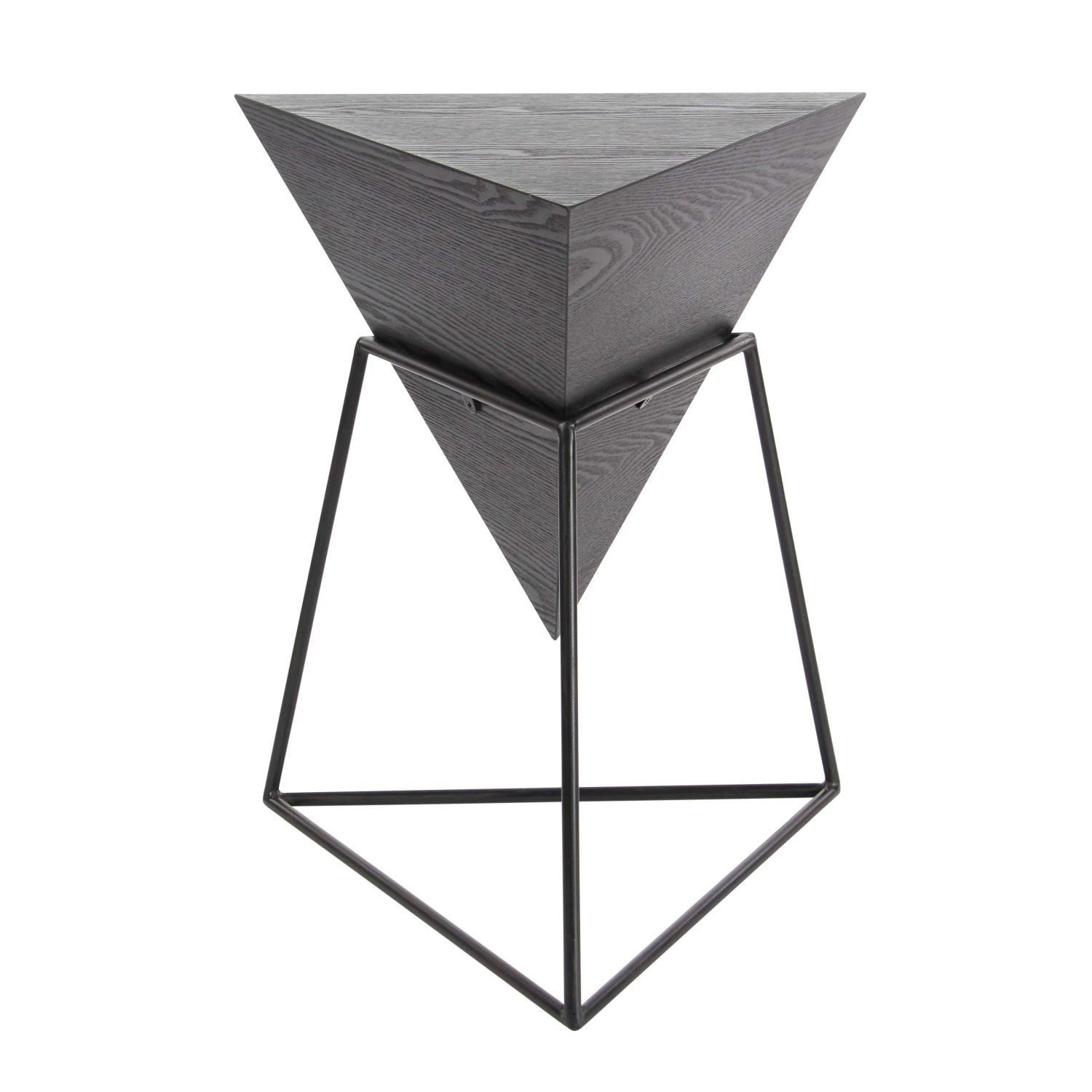 Studio 350 Wood Metal Triangle Table 20 Inches Wide 24 Inches