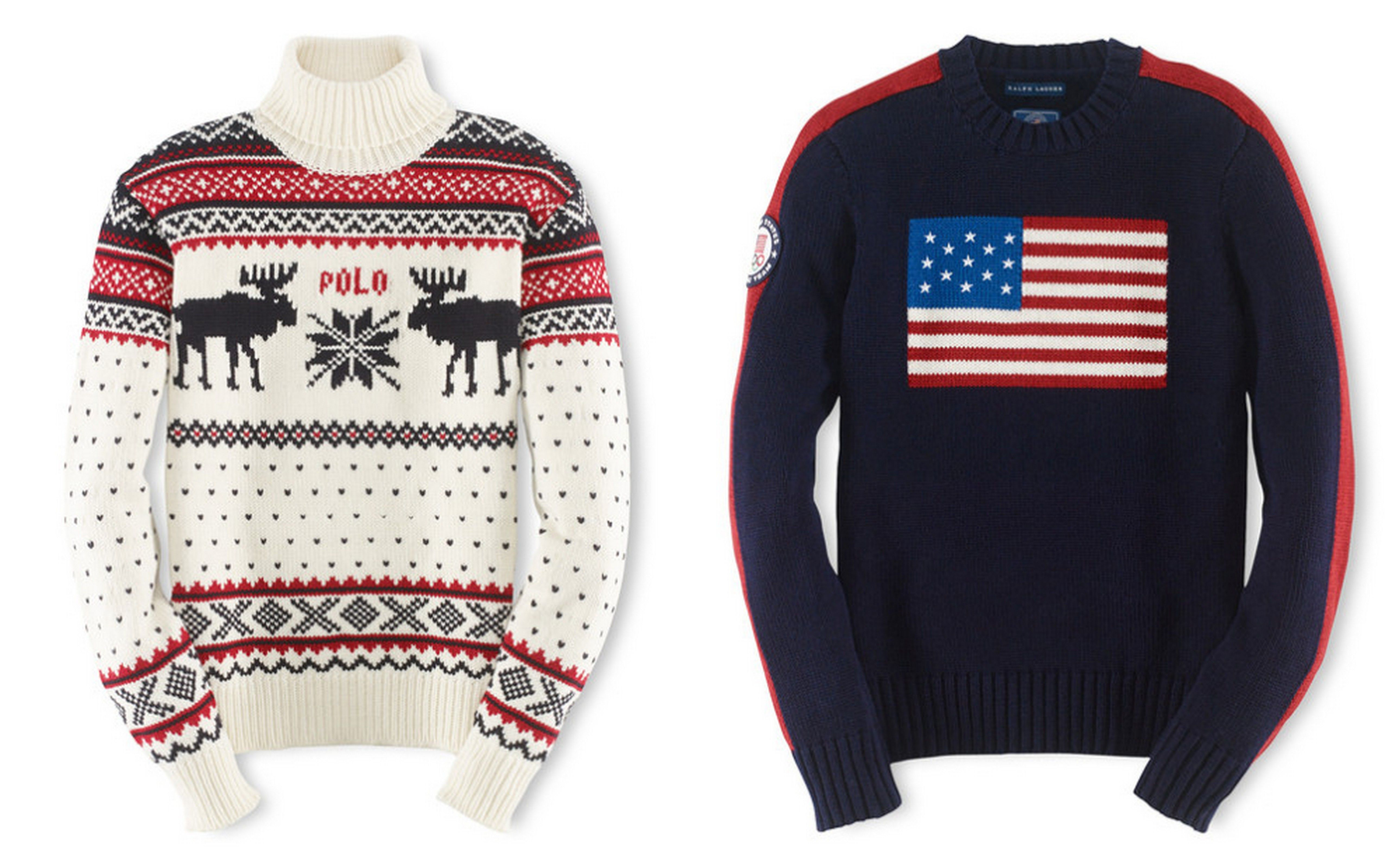 5a93fb6bb Imperial Yarn from Oregon created these Ralph Lauren Olympic Team ...