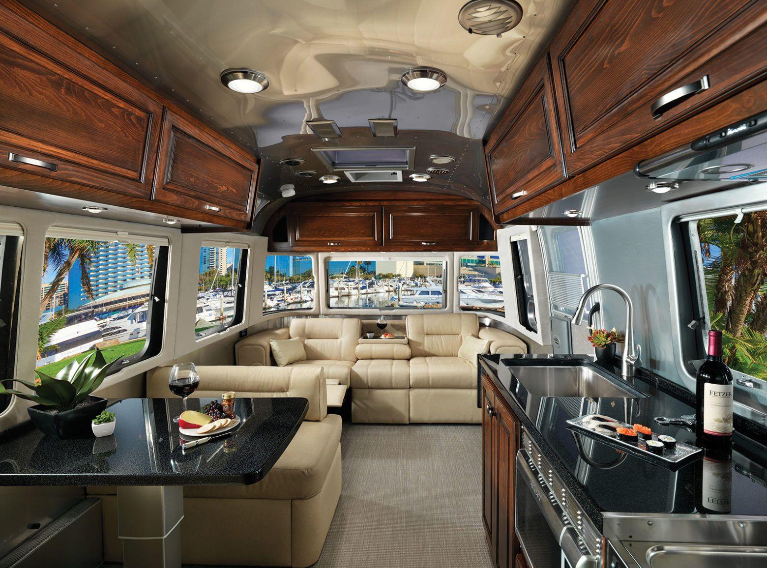 Airstream Travel Trailer Interiors - Luxury Travel ...