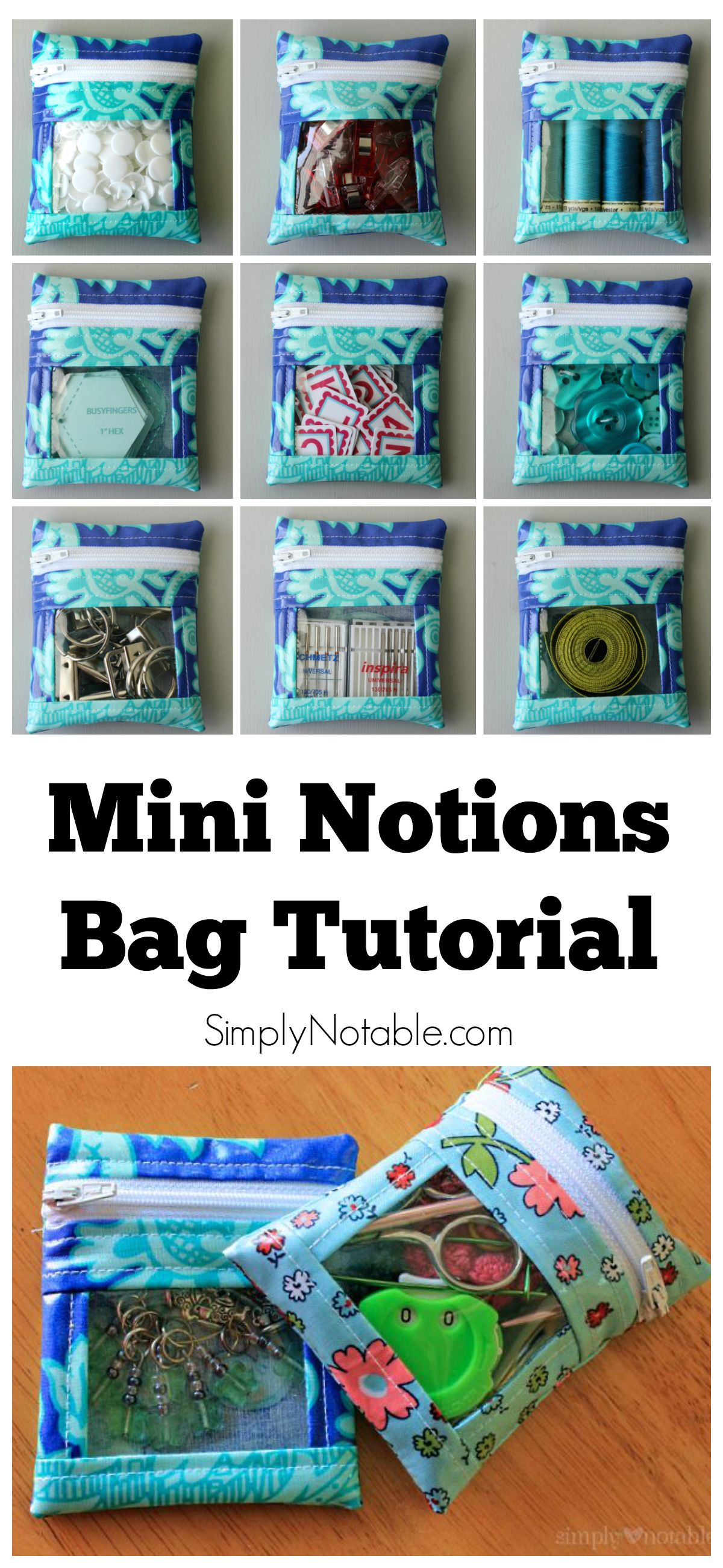 These Mini Notions Bags Are Perfect For Holding My Small