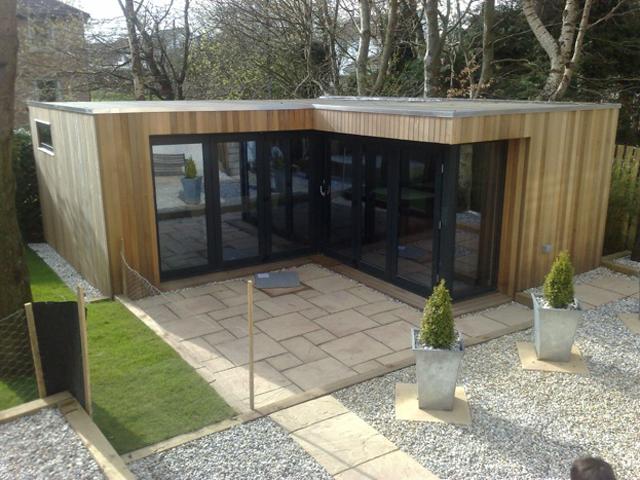 L Shaped Garden Room