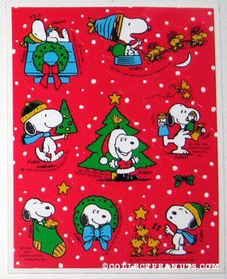 Peanuts Hallmark Christmas Stickers | CollectPeanuts.com