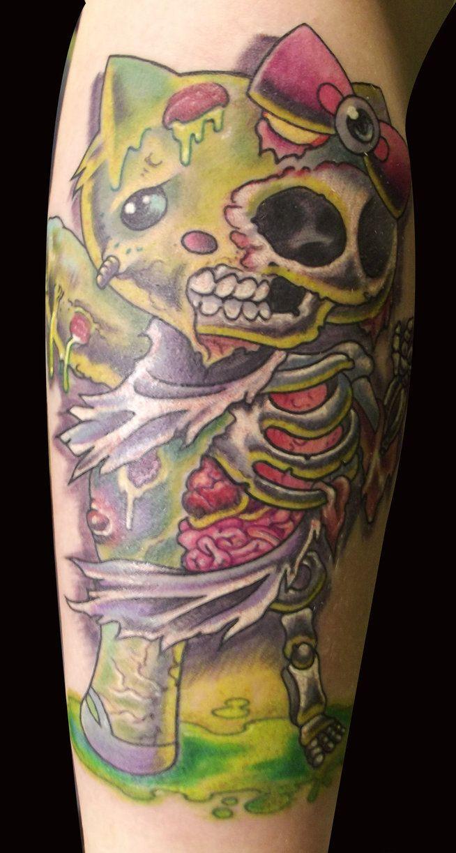 5da869bf2d5a8 Scary zombie hello kitty tattoo! | Tattoos ;) | Zombie tattoos ...