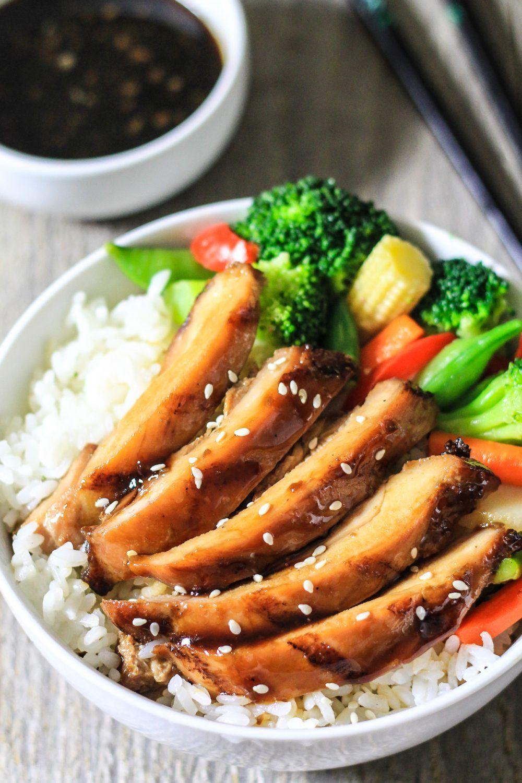 This juicy grilled teriyaki chicken is smoky, sweet ...