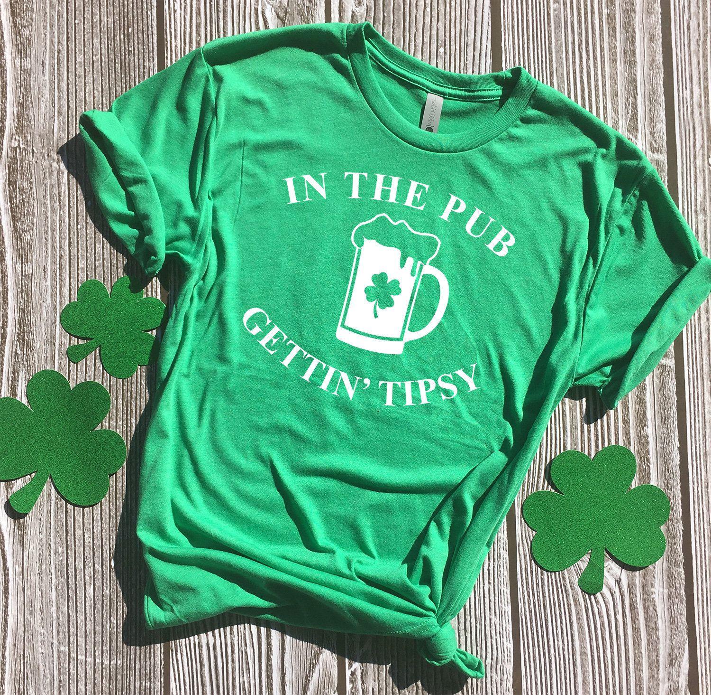 St Patricks Day Irish Ish Funny Forest Green Adult T-Shirt
