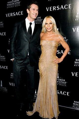 Donatella Versace and her late brother, Gianni, became the latest inductees to the Rodeo Drive Walk of Style. Rupert Everett hosted the Beverly Hills City Hall affair, and Demi Moore, Naomi Campbell, and Cindy Crawford shared their favorite memories of the designers before a glittering crowd that included Jennifer Lopez, Drew Barrymore, Jennifer Hudson, Jada Pinkett Smith, and Mary J. Blige.