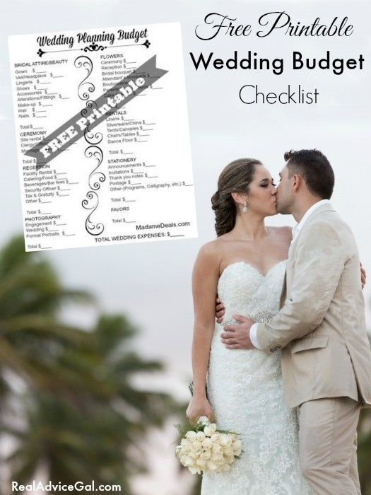 Free Printable Wedding Budget Checklist Crock Pot Recipes