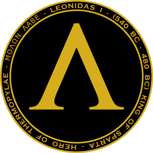 Leonidas I Black Gold Seal William Marshal Store Com Guerreros Medallones Yelmo