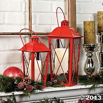 Red Lanterns Lanterns Decor Red Lantern Holiday Decor