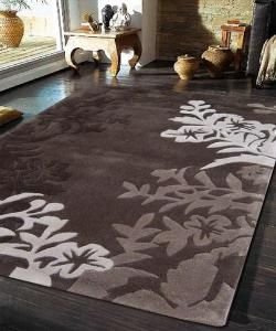 Silhouette Vine And Leaf Rug Brown 165x115cm Deals Direct Online Mobile
