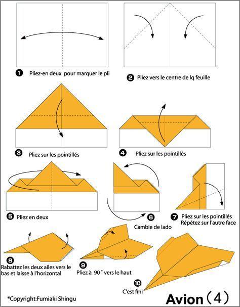 Avion En Papier Plus Aszulinap Origami Avion Diagrammes
