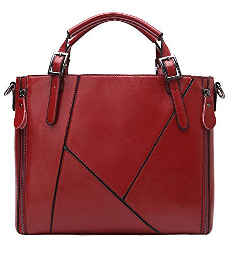 Generic Women's Synthetic PU Red Leather Handbag Large >>> Learn more by visiting the image link.