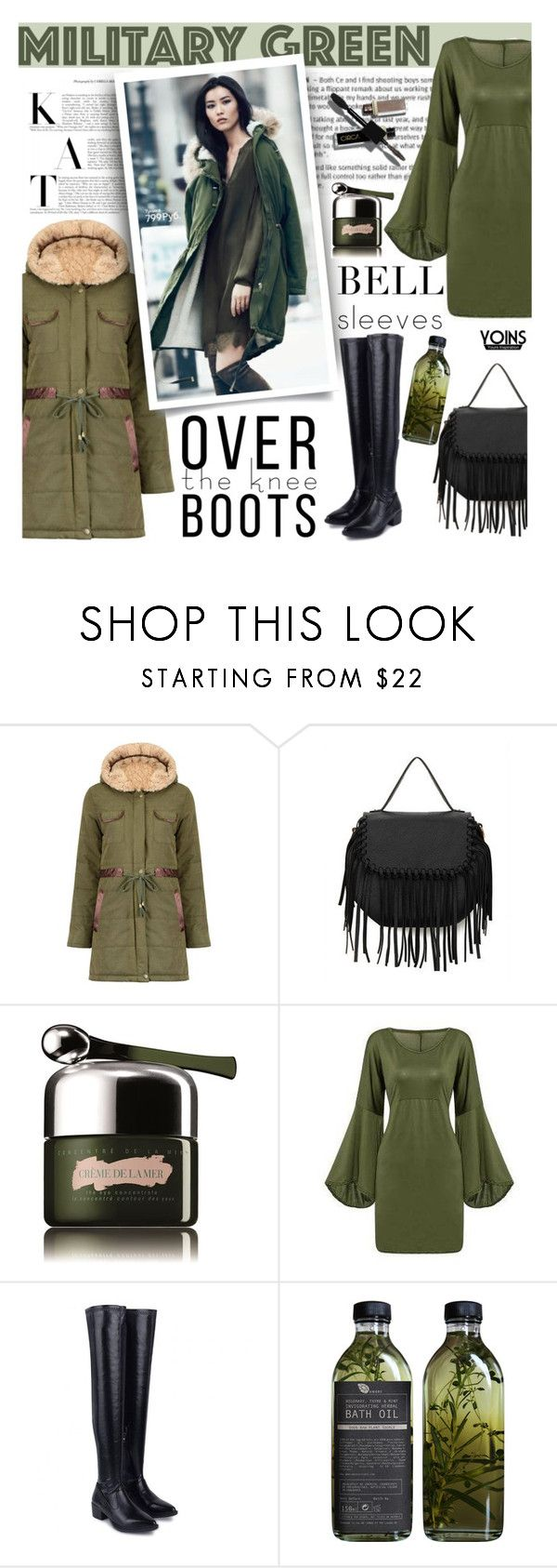 """Fall Footwear: Over-The-Knee Boots - Yonis"" by lacas ❤ liked on Polyvore featuring La Mer, H&M, AMBRE, Boots, OverTheKneeBoots and bellsleeves"